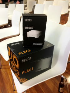 Sonos Play:3 and Bridge