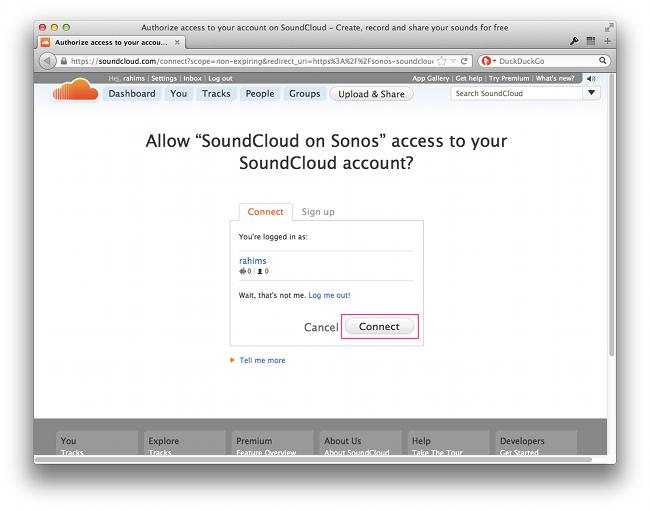 SoundCloud on Sonos